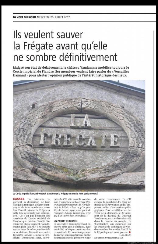 Revue de presse chateau vandamme 26 juillet 2017 la voix du nord 2